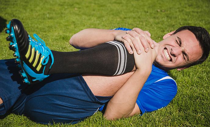 photo of injured football player