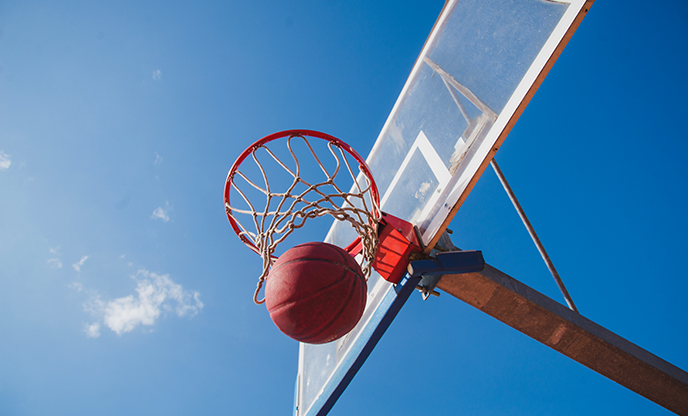 bottom-view-basketball-backboard