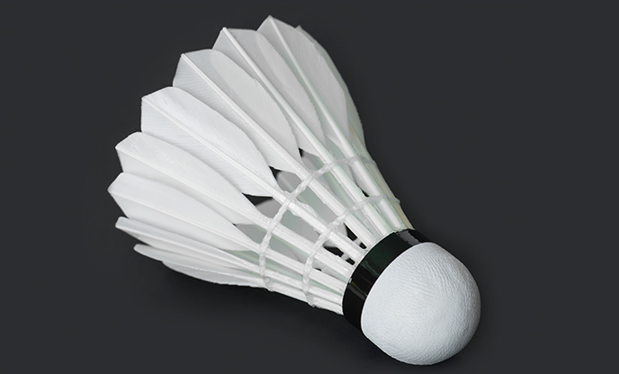 closeup-shuttlecock-racket