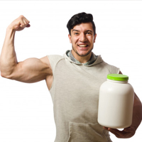 muscular-man-with-protein-muscle-gain