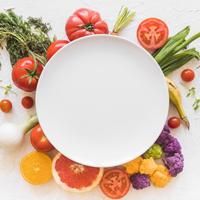 white-empty-frame-colorful-vegetables-It's-Easier-to-Eat-Healthier