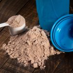 whey protein with shaker